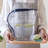 冷水壺 家用塑料冷水壺涼水壺耐熱大容量果汁扎壺夏季茶水壺泡茶壺2L3L