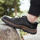 男鞋登山鞋春秋季戶外休閑皮鞋透氣防滑運動鞋耐磨旅游鞋