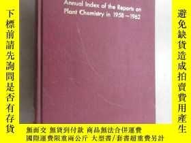 二手書博民逛書店英文書罕見Annual Index of the Reports on Plant Chemistry in 19