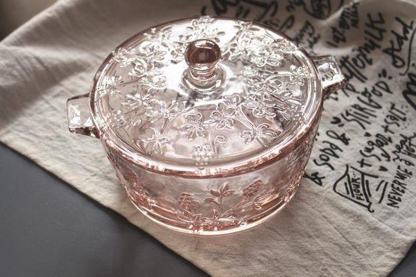[協貿國際]玻璃帶蓋 雙耳碗 大容量 玻璃碗1入