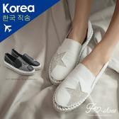 休閒鞋.真皮星星鑲鑽懶人鞋-FM時尚美鞋-韓國精選. Happy
