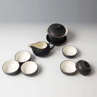 金屬黑無光8頭功夫茶具