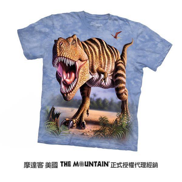 【摩達客】(預購)美國進口The Mountain 條紋雷克斯龍 純棉環保短袖T恤(10415045079)