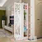 屏風 隔斷客廳玄關櫃現代時尚移動門廳裝飾櫃鏤空雕花櫥窗背景YXS 七色堇