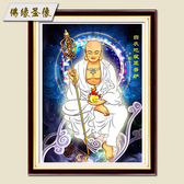 2019新款鑽石畫白衣地藏王佛像十字繡鑽石繡居家供奉地藏菩薩畫像WY