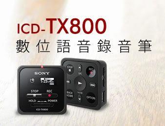 SONY ICD-TX800 數位語音錄音筆 內建16GB 【台灣索尼公司貨】