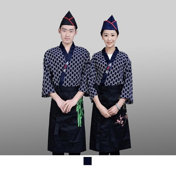 晶輝專業團體制服*CH117*日式溫泉飯店女竹子印花日本料理廚師服餐廳服務員工作服壽司