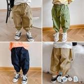 兒童工裝褲男童寶寶洋氣束腳休閒褲韓版寬鬆長褲【奇趣小屋】