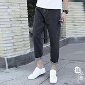 牛仔褲 - 男夏季牛仔褲男寬松流直筒黑色美式街頭簡約百搭【韓衣舍】
