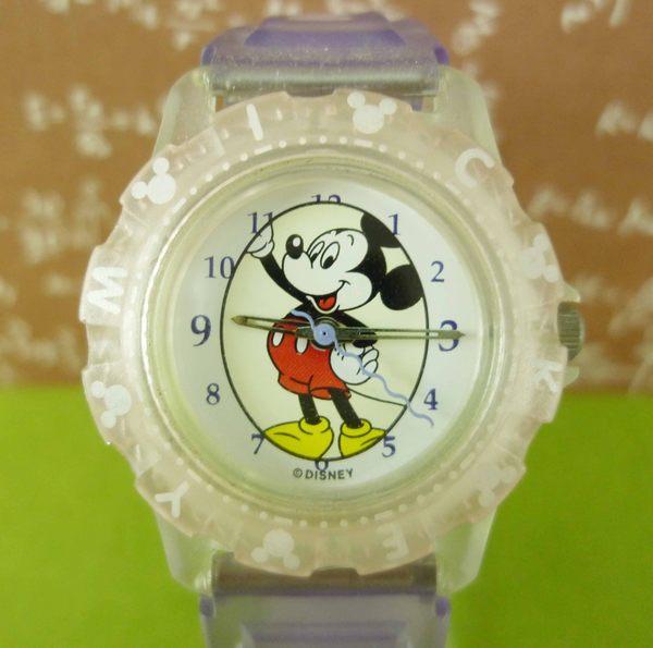【震撼精品百貨】米奇/米妮_Micky Mouse~手錶-米奇全身圖案-紫色透明錶帶