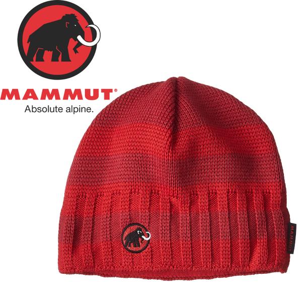 【MAMMUT 瑞士 Passion Beanie《地獄紅/深紅》】1090-03070/保暖帽/針織帽/毛帽