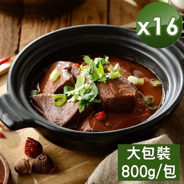 【媽祖埔豆腐張】麻辣鴨血-大包裝-16入組