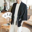 中國風復古唐裝褂子男裝披風夏季寬鬆大碼薄...