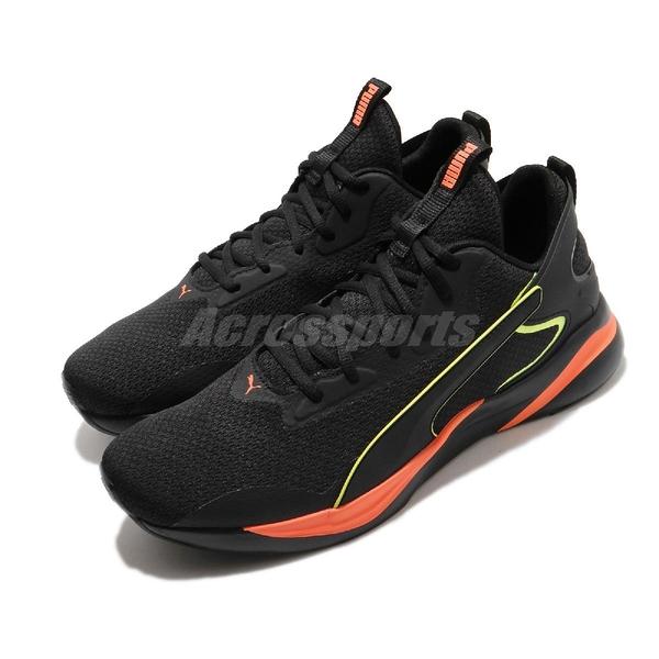 Puma 慢跑鞋 Softride Rift Tech 黑 黃 男鞋 輕量避震 運動鞋【ACS】 19373702