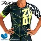 【ZOOT】男款 F20 NEON RACING 競速系列 有袖全開三鐵上衣 炫光黃 Z200601004 原價3700元