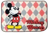 米奇 菱格小毯子-紅色