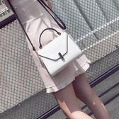 手提包女2018新款韓版潮單肩女包個性時尚凱莉包小包百搭斜背包包  巴黎街頭