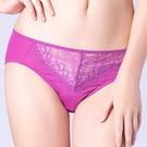 思薇爾-花采柔媚系列M-XXL蕾絲中腰三角內褲(紫水晶)