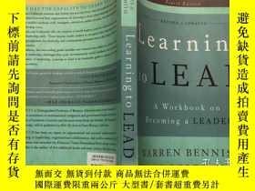 二手書博民逛書店英文原版罕見Learning to Lead成爲領導者 Lear
