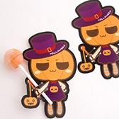 【BlueCat】萬聖節南瓜木乃伊女巫棒棒糖吸管裝飾卡 派對裝飾 (50入)