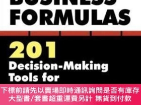 二手書博民逛書店Schaum s罕見Quick Guide To Business Formulas: 201 Decision-