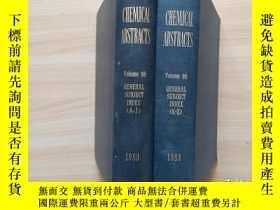 二手書博民逛書店CHEMICAL罕見ABSTRACTS化學摘要 1983 Vol 98( GS1.GS2)Y302069