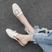 包頭涼拖鞋穿休閒外穿時尚半拖懶人鞋【不二雜貨】