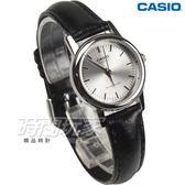 CASIO卡西歐 LTP-1095E-7A 經典簡約時尚皮帶腕錶 指針錶 纖細數字女錶 小圓錶 黑 LTP-1095E-7ADF