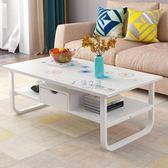 桌子 簡約現代客廳茶幾多功能創意茶桌餐桌兩用 簡易小戶型帶抽屜 俏女孩