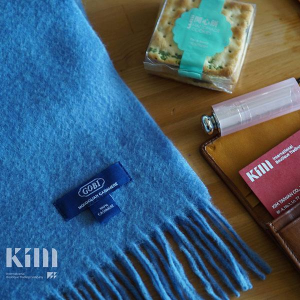 可傑 KIM Taiwan 快樂自由.天空藍『GOBI 100% 喀什米爾圍巾』 原價3500 限時85折 $2975