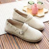 日系文藝軟妹平底鞋圓頭套腳單鞋軟底舒適低幫鞋復古森系娃娃鞋 QQ3184『MG大尺碼』