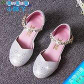 夏季兒童水晶高跟水鑽公主包頭銀色表演拉丁舞演出鞋LY2682『愛尚生活館』
