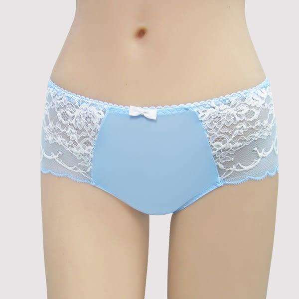 曼黛瑪璉-包覆提托雙弧  低腰平口萊克內褲(地球藍)(本活動未滿3件無法出貨,退貨需整筆退)