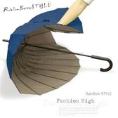 【FiBer-颶風傘】元祖無敵傘-大長傘/ 傘 雨傘 UV傘 自動傘 洋傘 陽傘 大傘 抗UV 防風 潑水+1