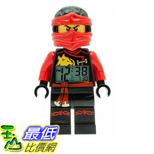 [106 美國直購] LEGO Kids 9009440 人偶鬧鐘 忍者 Ninjago Sky Pirates Kai Mini-Figure Light Up Alarm Clock