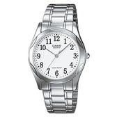 CASIO 輝煌時尚紳士指針腕錶-數字白面(MTP-1275D-7B)