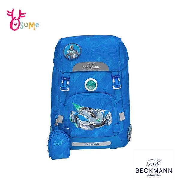 BECKMANN挪威護脊書包 兒童書包 男童背包 後背 減壓 矯正 機能 開學 出遊 22L-帥氣跑車 BB030