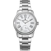 【BENTLEY】賓利 Classic系列 典藏風範晶漾女錶 (白/銀 BL1615-100002)