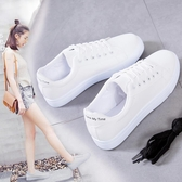 小白鞋小白潮鞋女2019冬季新款鞋子百搭加絨白鞋平底板鞋帆布鞋2020春季 貝芙莉