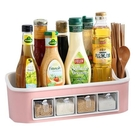 調料瓶 調料盒家用廚房用品收納盒調味罐調味品鹽罐調料瓶罐子置物架套裝【快速出貨】