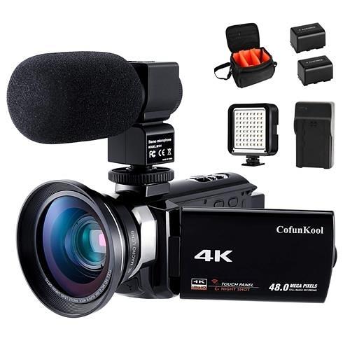 Vlogging -YouTube專用4K 攝像機CofunKool 60FPS 48MP超高清WiFi夜視16倍變焦