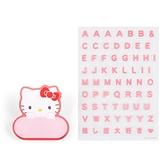 小禮堂 Hello Kitty 造型壓克力名牌徽章 附貼紙 名牌胸章 姓名牌 胸牌 (紅 2021角色大賞) 4550337-61073