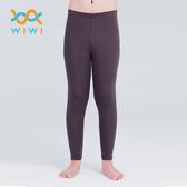 【WIWI】MIT溫灸刷毛九分發熱褲(銀河灰 童70-150)