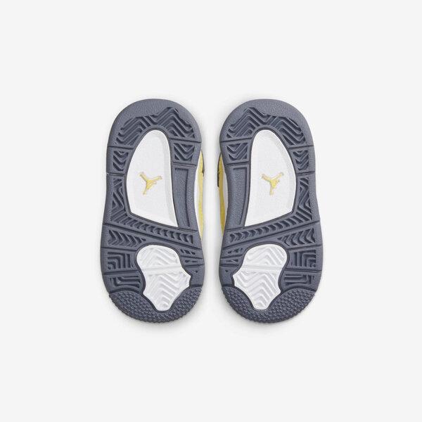 Nike Jordan 4 Retro TD [BQ7670-700] 小童 籃球鞋 運動 休閒 復古 閃電 AJ4 黃