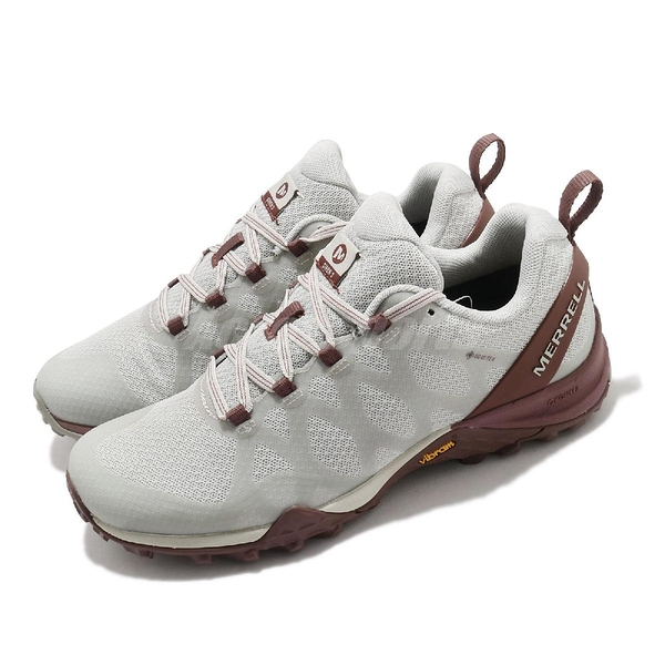 Merrell 戶外鞋 Siren 3 GTX 防水 灰 酒紅 黃金大底 健走 女鞋 登山鞋【ACS】 ML036370