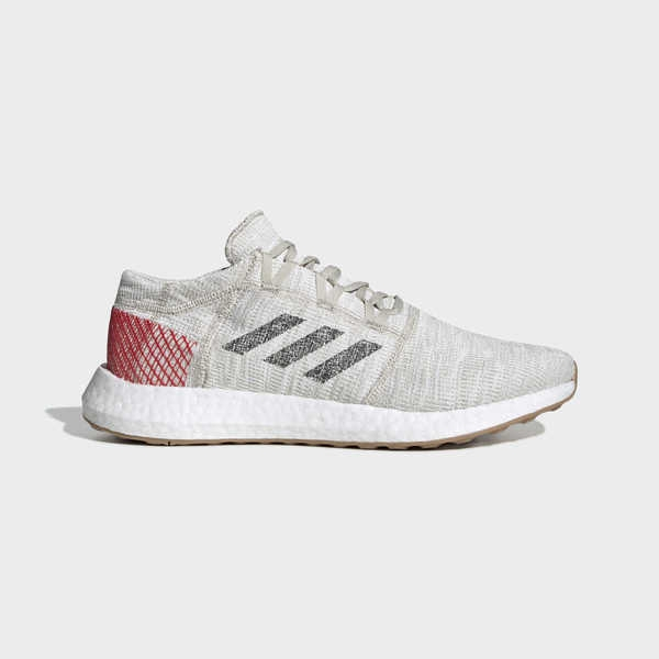 ADIDAS PUREBOOST GO [B37805] 男鞋 運動 休閒 慢跑 輕量 針織 彈力 避震 愛迪達 米紅