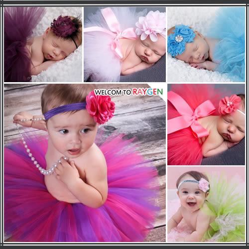 童裝 寶寶攝影寫真澎澎紗裙+髮帶 套裝