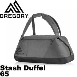 【GREGORY 美國 Stash Duffel 65黑色】75504/健行包/登山背包/自助旅行/休閒旅遊★滿額送