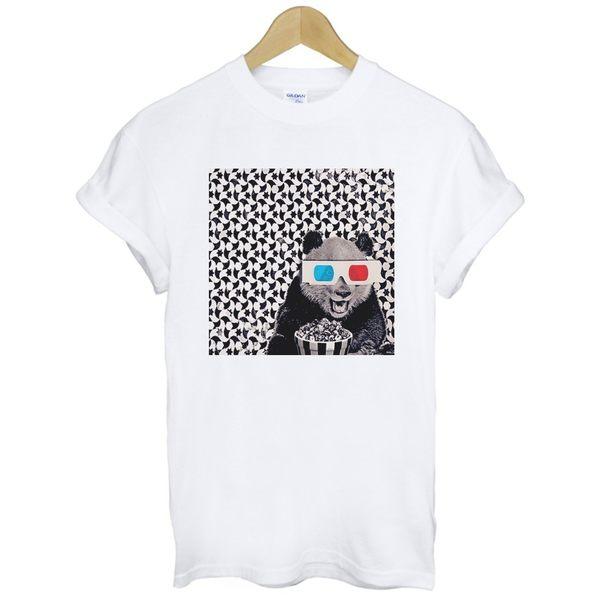 3D Panda短袖T恤-2色 熊貓 貓熊 動物圖案趣味電影可愛t-shirt特價$390 gildan
