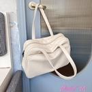 旅行袋大容量托特包女短途出差旅行側背大包...